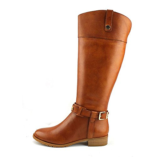 Wheat Inc Fabbaa 5M High Wide 5 Equestrian Leather Boot Knee Women's Calf WHFqFwnT4