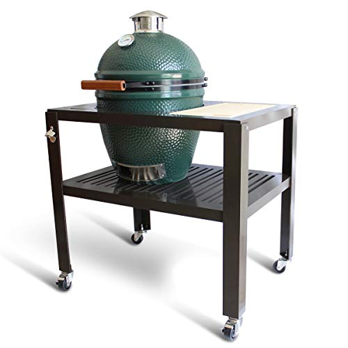 SmokeWare Table for a Large Big Green Egg - with Wheels (Cutting Board Color, Tan)