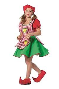 Disfraz de Enanito para niña, Vestido y Gorro de puntilla ...