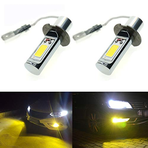 ght LED H3 COB Chips 30W Golden Yellow Color LED Fog Light Bulbs Plug-n-Play(pack of 2) ()