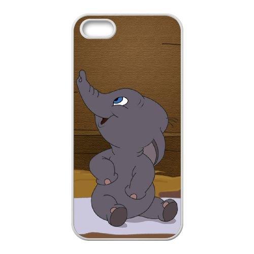 Dumbo 005 coque iPhone 5 5S Housse Blanc téléphone portable couverture de cas coque EOKXLLNCD18330