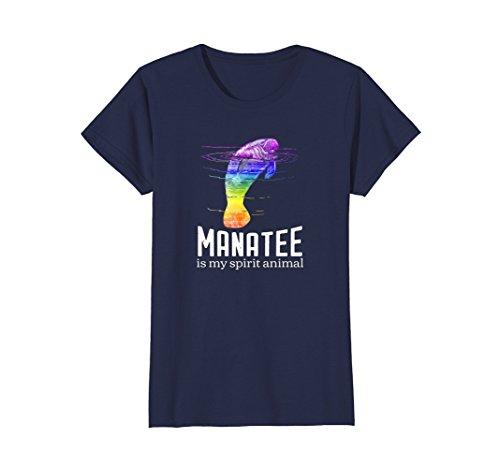 Womens Manatee Is My Spirit Animal Men's Women's T-shirt Medium Navy