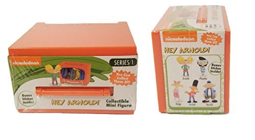NICK 90's HEY ARNOLD! Set of 2 COLLECTIBLE MINI FIGURES SERIES 1 -