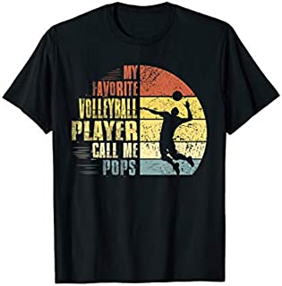 Vintage My Favorite Volleyball Player Calls Me Pops T-shirt | Size S - 5XL