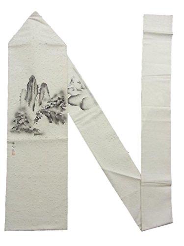 ストライク用心する場合リサイクル 名古屋帯 髭紬 崖の上の田舎家 作家物 正絹