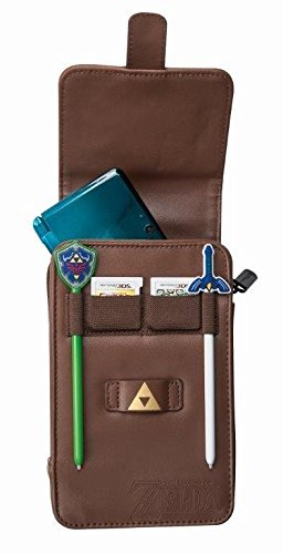 PowerA The Legend of Zelda Adventurer's Pouch - Nintendo 3DS/ Wii GameCube - Brown (Nintendo 3ds Power Case)
