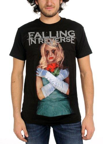 Falling In Reverse - Mens Coffin Girl Album T-Shirt, Size: Large, Color: Black