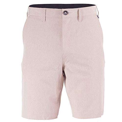 Hybrid Shorts for Men Big/Tall Golf Quick Dry Stretch Board Short Swim Trunks Khaki - 38
