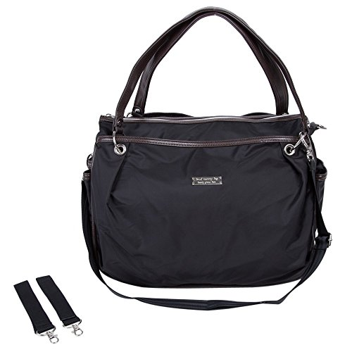 Handbag Mummy Waterproof Elegant Changing Tote Shoulers Bags Fashion All Seasons Nappy Bag Quality Insurence (black) (Diaper Genie Refill Generic)