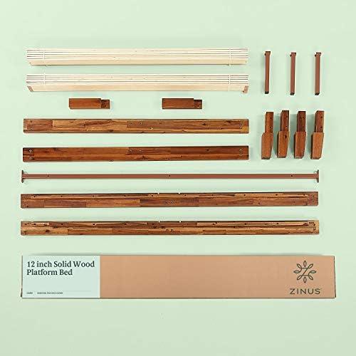 Zinus Wen 12 Inch Wood Platform Bed Frame / Solid Wood / Mattress Foundation with Wood Slat Support / No Box Spring Needed / Easy Assembly, Queen 41ckkVinSSL