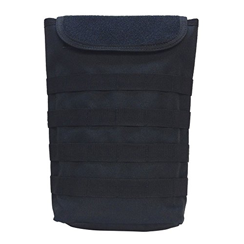 BLACK Molle Tactical Pals Compact Hydration Carrier Pouch 2 to 2-1/2L Bladder (Compact Carrier Plate)