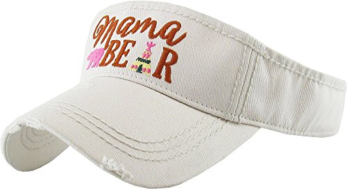 Funky Junque H-201-MB60 Ponytail Hat Visor - Mama Bear (Beige)]()
