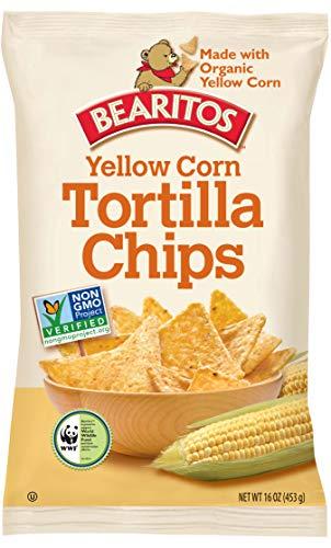 Bearitos Yellow Corn Tortilla Chips, 16 Ounce (Pack of 12)
