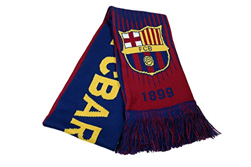 (FC Barcelona Authentic Official Licensed Product Soccer Scarf - 03-2)
