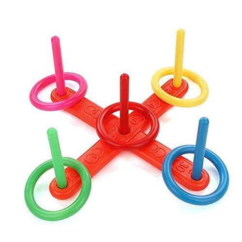 Mk  Park   Children Kids Funny Toy Hoop Ring Toss Quoits Outdoor Indoor Group Play Set Gift