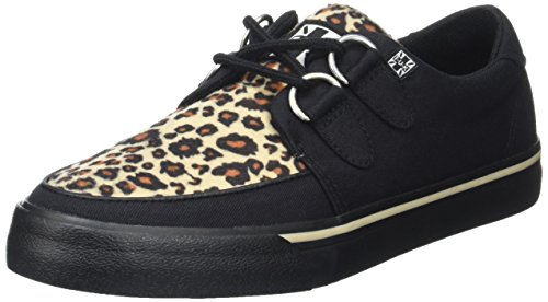 Leopard A9181 Print Leopard Canvas Black Black Black Black and U K T Men's Animal Sneakers Canvas 8tpq46w