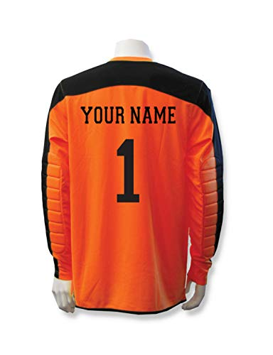 335e0924608 ... tee makes the perfect accessory to your soccer gear. Diadora Enzo Goalkeeper  Jersey Personalized with Your Name and Number - Orange - Size Youth Large