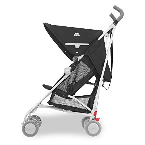 41cklsc8WFL - Maclaren Sherpa Stroller - Super Lightweight, Sleek, Compact, Easy To Steer, Waterproof/UPF 50+ Hood, Roomy Shopping Basket, Single Position Seat, Replaceable Parts Available