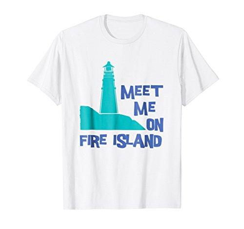 SUMMER SERIES Meet Me On Fire Island (Lighthouse) T-Shirt (Island Lighthouse T-shirt)