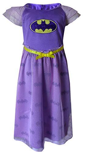 Justice League Big Girls' Batgirl Dressy Gown, Purple, -