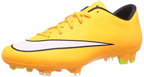 Hommes Nike Mercurial Victoire V Crampon De Football Laser Orange / Noir / Volt / Blanc