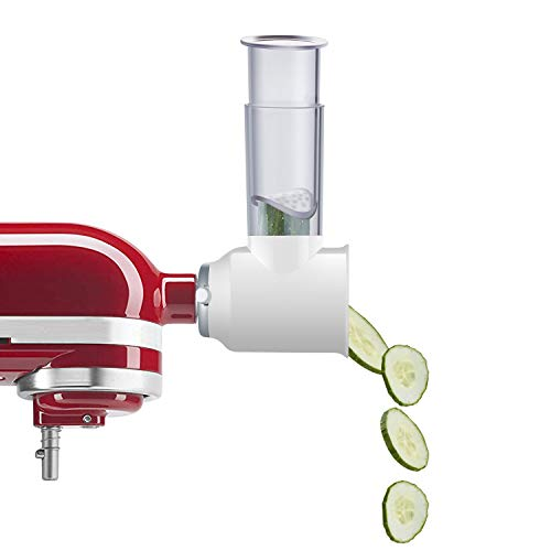 Slicer/Shredder Attachment Compatible with KitchenAid Stand Mixers as Vegetable Chopper Accessory-Salad Maker by Gvode