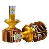 2PCS 90W Siverado Car LED HeadLight Bulbs Siverado Car Philip-s LED Headlight Kit H1 H3 H7 H11 IP68 LED Headlight , gold