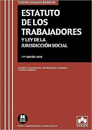 Libro PDF Gratis Estatuto de los Trabajadores y Ley de Jurisdicción Social: Contiene concordancias, modificaciones resaltadas e índices analíticos. (TEXTOS LEGALES BÁSICOS)