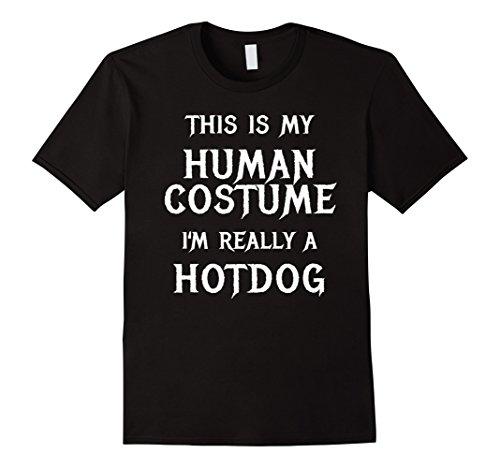 Mens Hotdog Halloween Costume Shirt Easy Funny Women Men Kids Small (Toddler Hotdog Costumes)