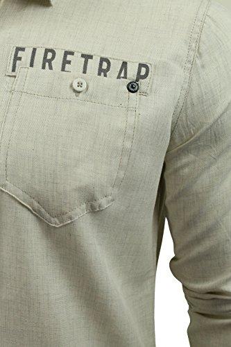 Chemise Firetrap Lisford pour homme en �cru