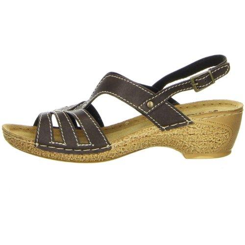Inblu Damen Sandaletten braun, Größe:37;Farbe:Braun