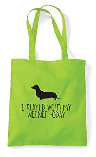 Played Parody I Shopper Funny With Sausage Today Dog Weiner My Lime Tote Bag dqa0rqU