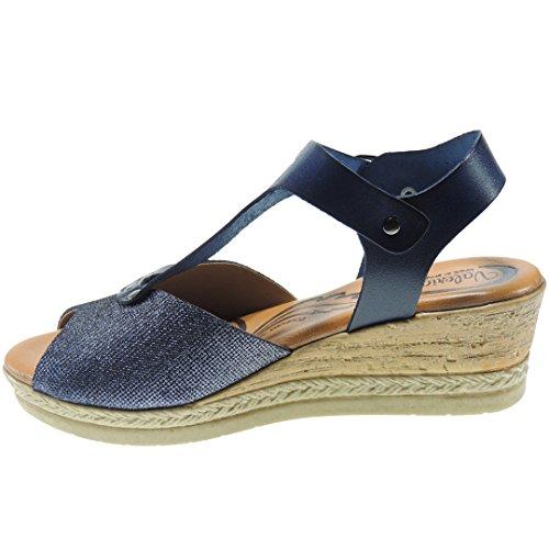 Sandales Calzados Romero Marine Femme pour Bleu 5qvq0Uw