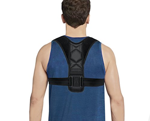 Posture Corrector Clavicle Support Brace for Upper Back & Shoulder, Best Brace Help to Prevent Slouching & Hunching Improve Posture for Men & Women (Fits Most) by Reazeal
