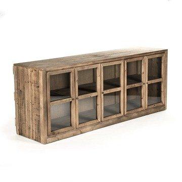 Archer Industrial Loft Rustic Wood Sideboard - Art Deco Sideboard