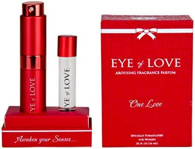 Eye of Love -One Love Pheromone Parfum for Women to Attract Men - Highest Concentration Perfume Spray with floral scent, 16 ml Bottle with refillable container