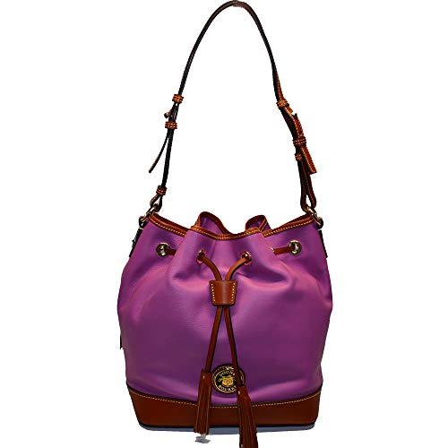 Dooney and Bourke Belvedere Leather Drawstring Bag Orchid