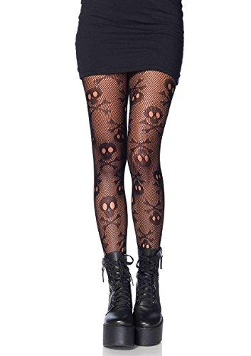 Women Pirate Halloween (Leg Avenue Women's Hosiery, Black Pirate Skull, One)