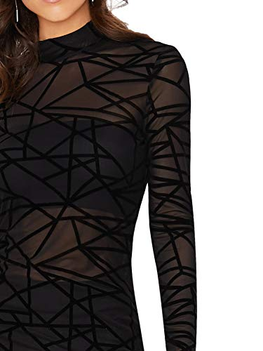See Through Stretch 2 in 1 Bodycon Dress