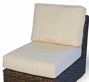 Contempo Armless Sectional Seat and Back Cushion (Dupione Sand)