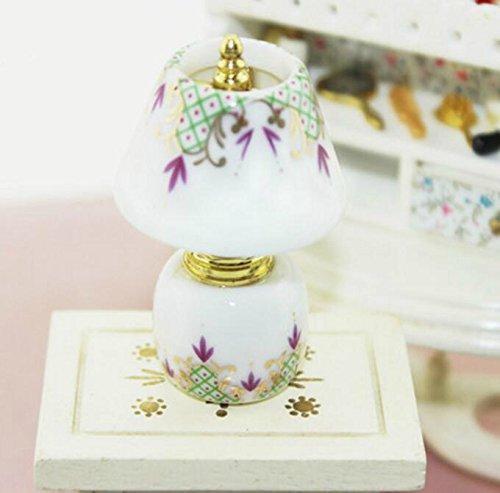 EoamIk Casa de muñecas artesanía Exquisita Miniatura de Dollhouse Accesorio Mini lámparas de cerámica