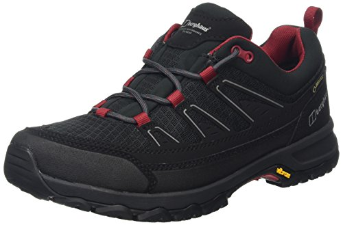 Berghaus Explorer Active, Zapatos de Low Rise Senderismo para Hombre Multicolor (Black/red B59)