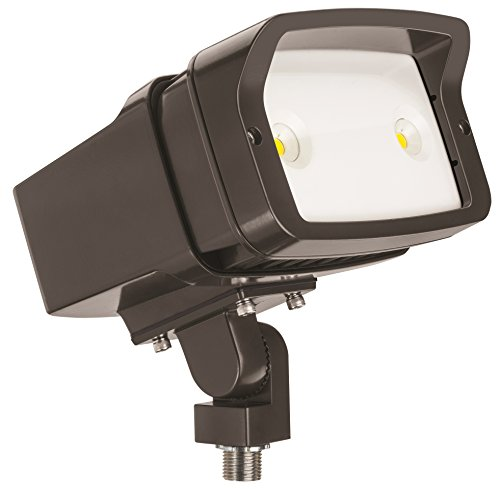 Lithonia Lighting OFL1 LED P1 Contractor Select 40K MVOLT THK DDBXD M4 4000K Color Temperature Size 1 Floodlight with P1 Performance Package – Knuckle Mounted