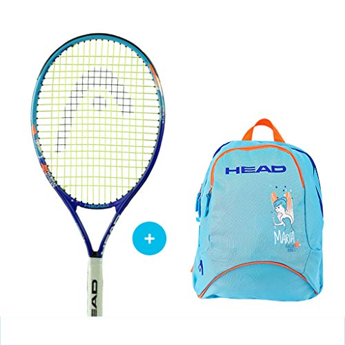 Children's Tennis Racket, Single Double, Professional Primary School Training Beginner (Tennis Racket + Sports Backpack) 21In (Suitable for 4-6 Years Old) Blue
