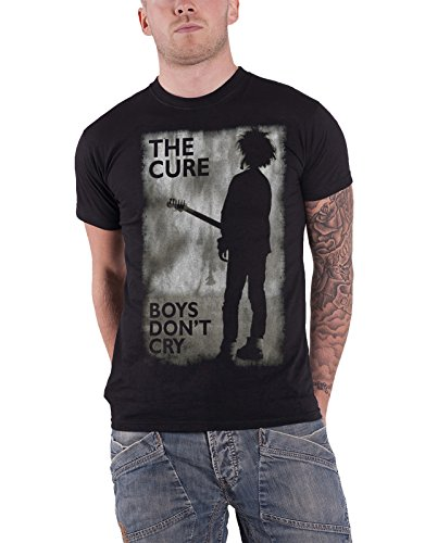 The Cure T Shirt Boys Dont Cry Distressed Band Logo Official Mens Black