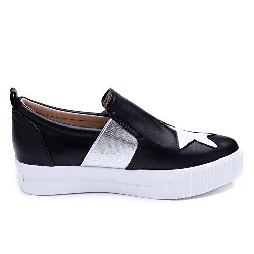 Balamasa Ladies Assorted Color Graffiti Modello Imitato Pumps-shoes In Pelle Nero