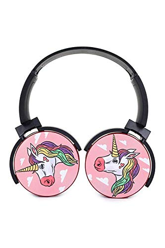 Buy Rainbow Unicorn Bluetooth Headset Headphone Wireless 3d Diy Portable Over Ear Earphone Support Expansion Cards Online At Low Prices In India Amazon In