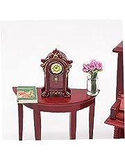 1:12 Dollhouse Tillbehör Miniatyr Klassisk Plast Skrivbord Klocka Klassisk Leksaker Klocka Modell Doll Hus Dekoration Kids Toy Skapa livssituationer