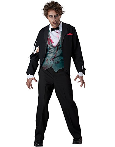 [InCharacter Costumes Men's Gruesome Groom Costume, Black, Large] (Bride Costume For Men)