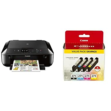 Canon MG5720 Wireless All-In-One Printer with Scanner and Copier with Ink Bundle